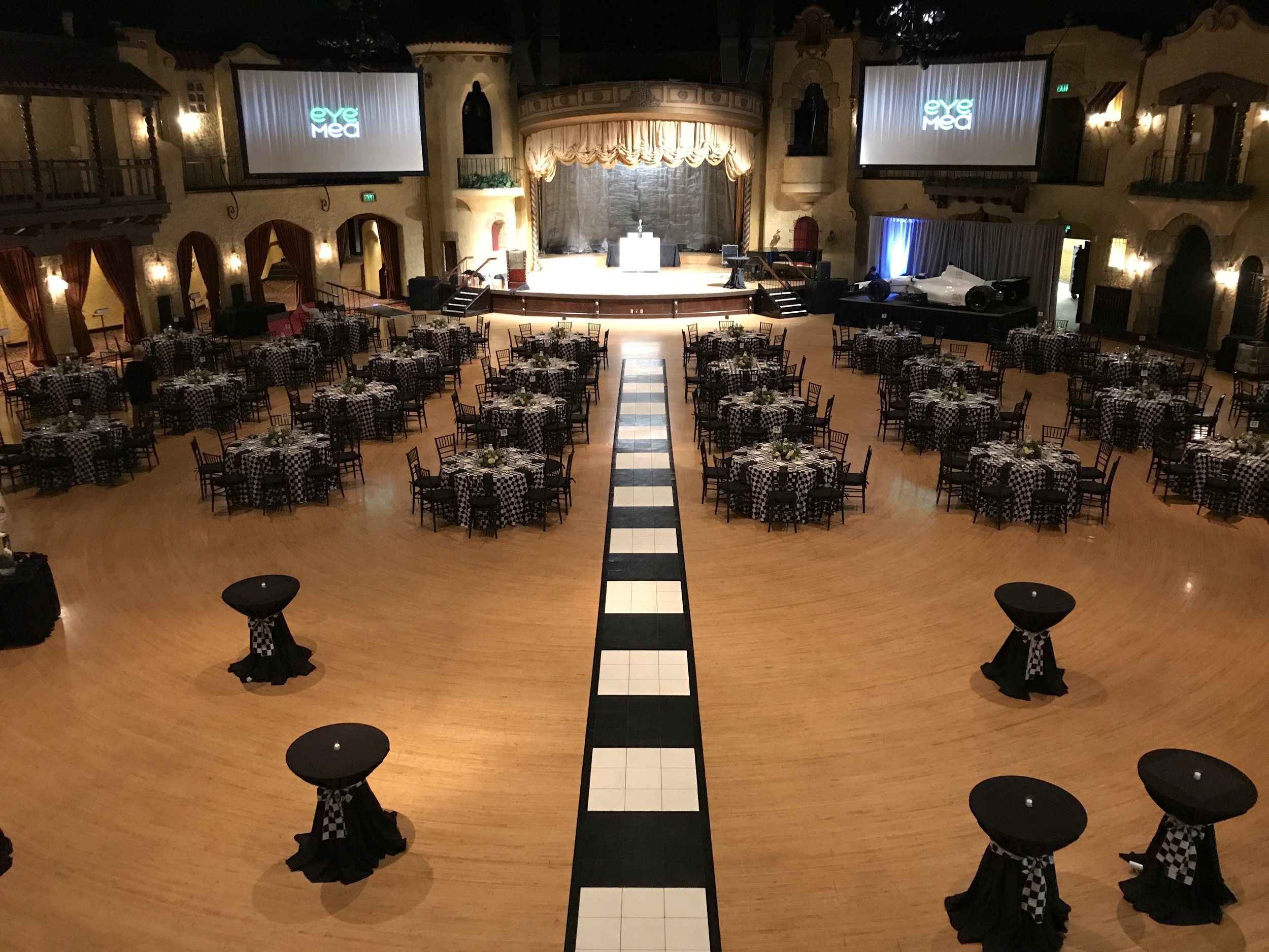 I'm asked to serve as Master of Ceremonies and DJ for corporate events in Central Indiana, like this one at the  Indiana Roof Ballroom