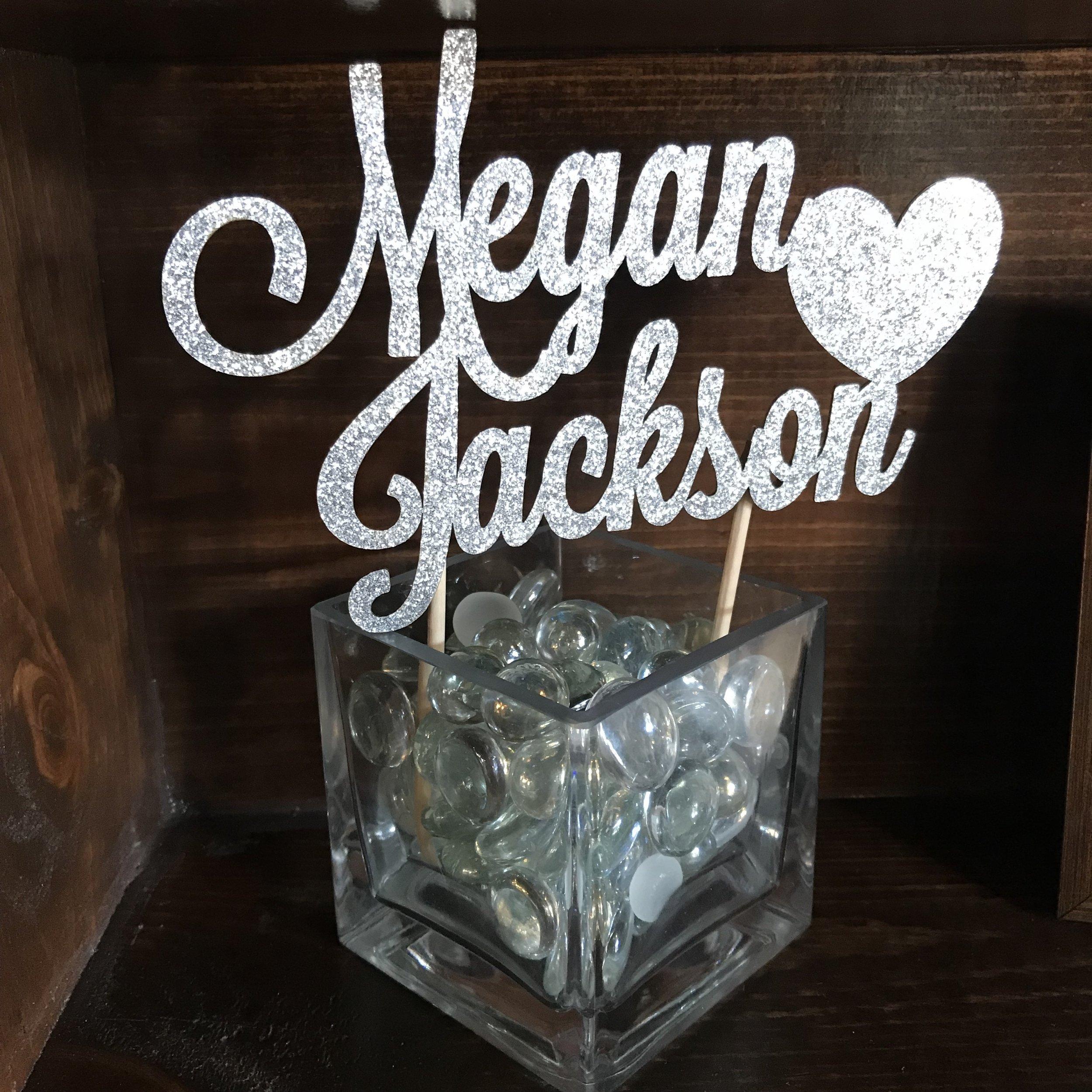 Megan & Jackson sign by DJ Jim Cerone