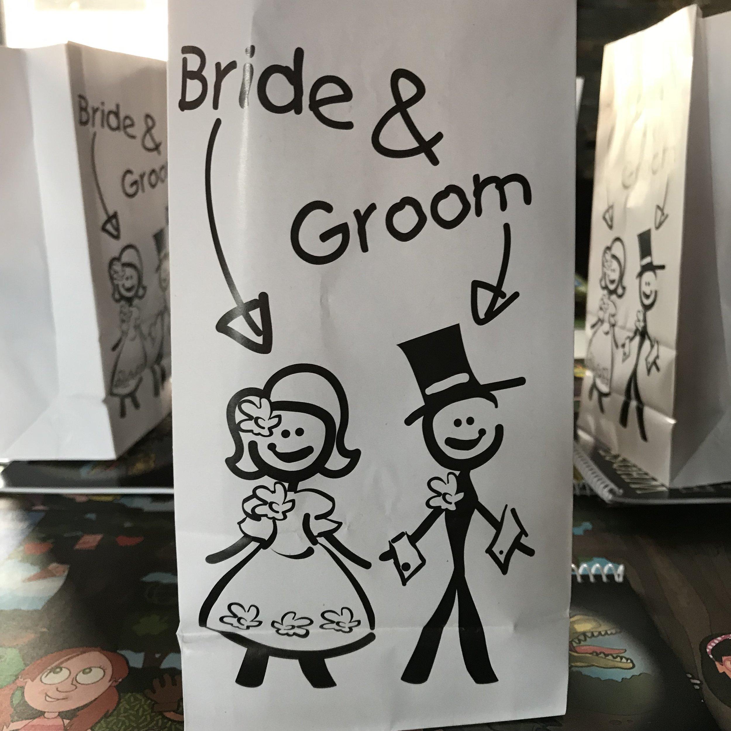 Bride & Groom bag by DJ Jim Cerone