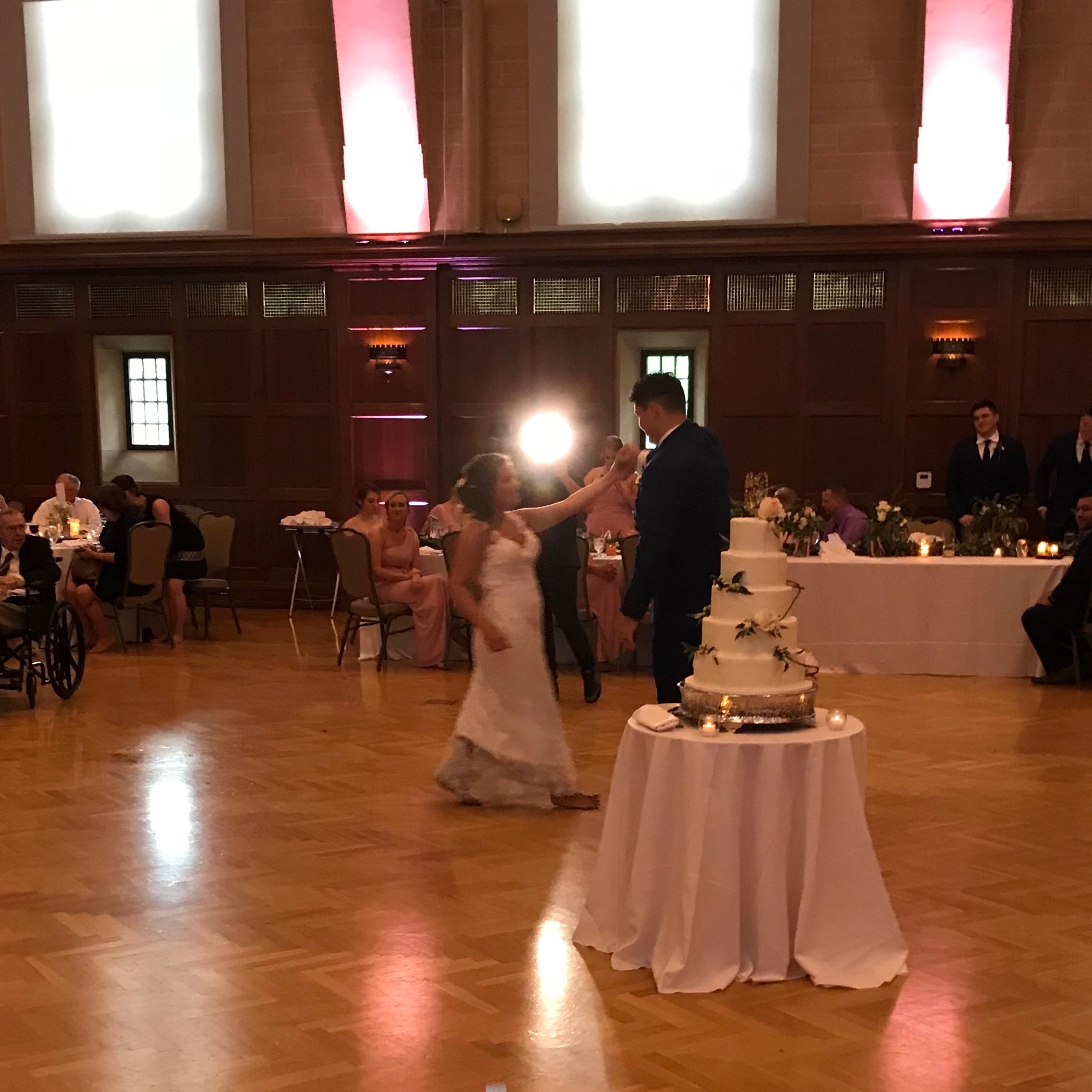 """You make me better than I was before  Thank God I'm yours"" - Russell Dickerson was Jess & Adam's first dance"