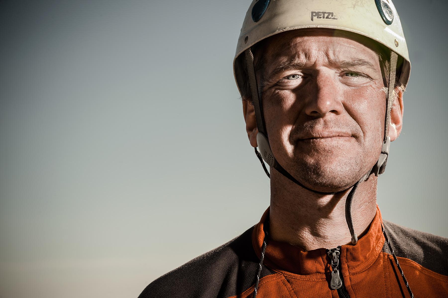 Portrait of adventurer Forrest McCarthy in Jackson, WY