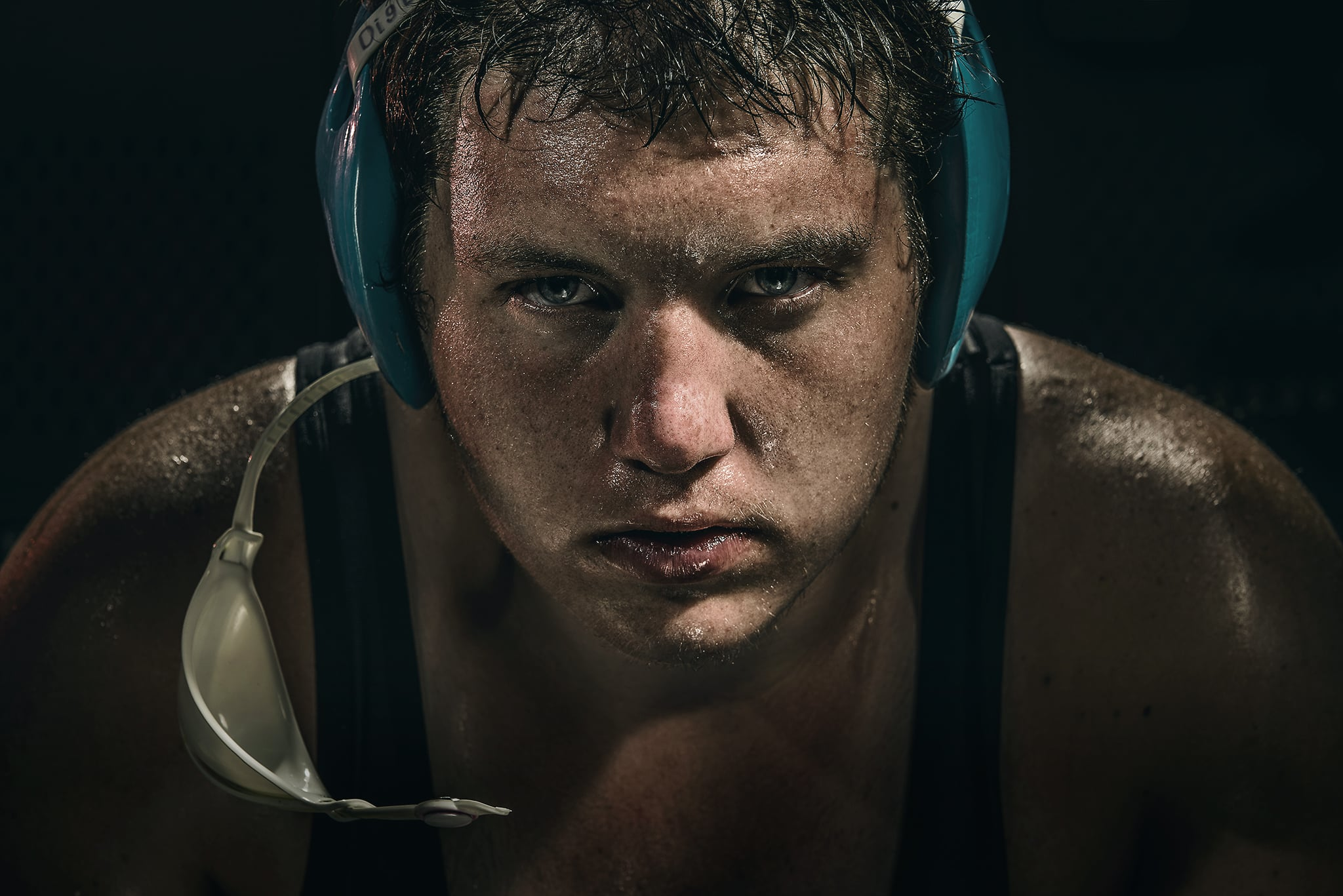 Creative lighting portrait of Colorado State Champion Wrestler