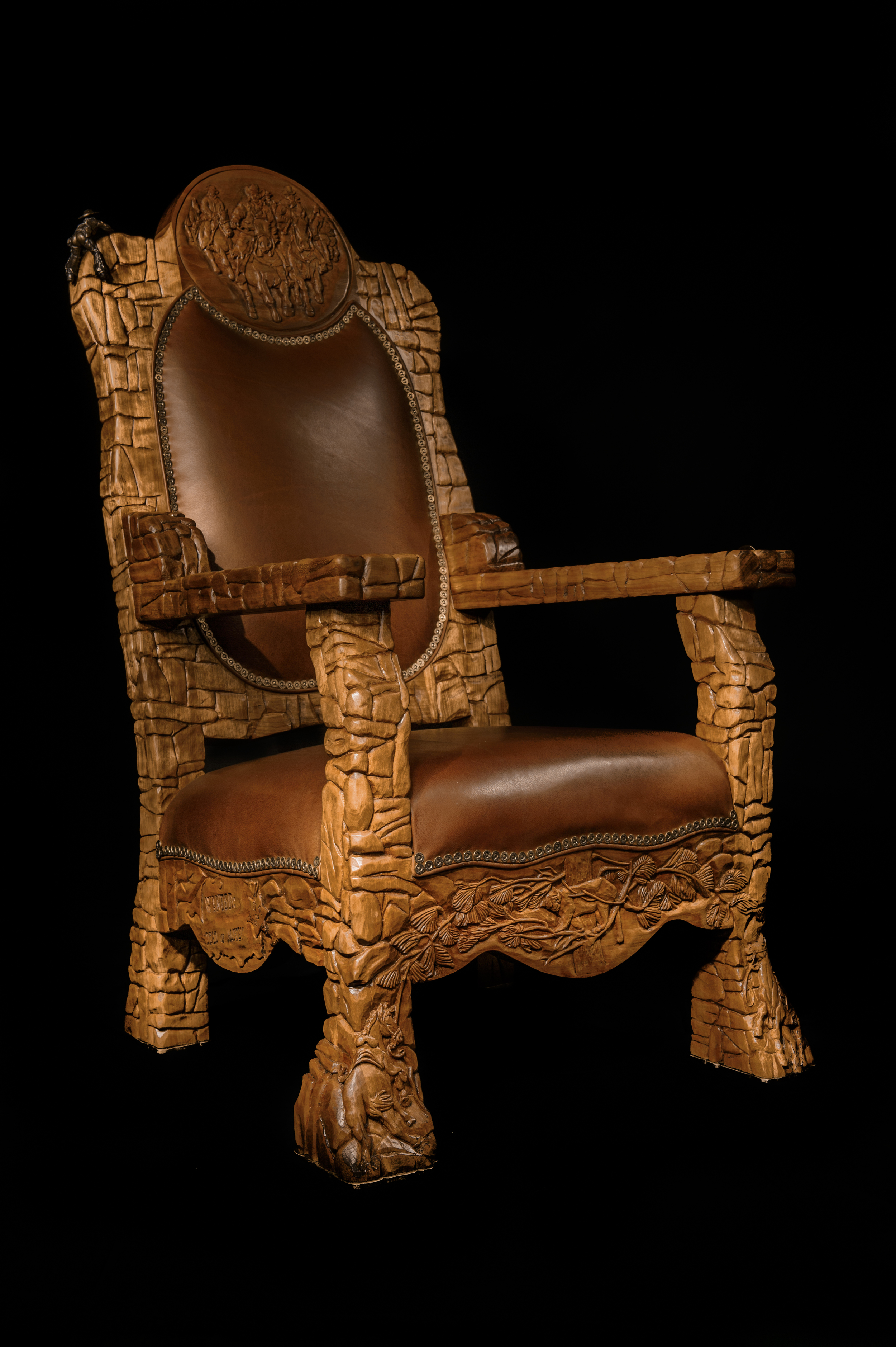 """Hand Carved """"Outlaw"""" Chair"""