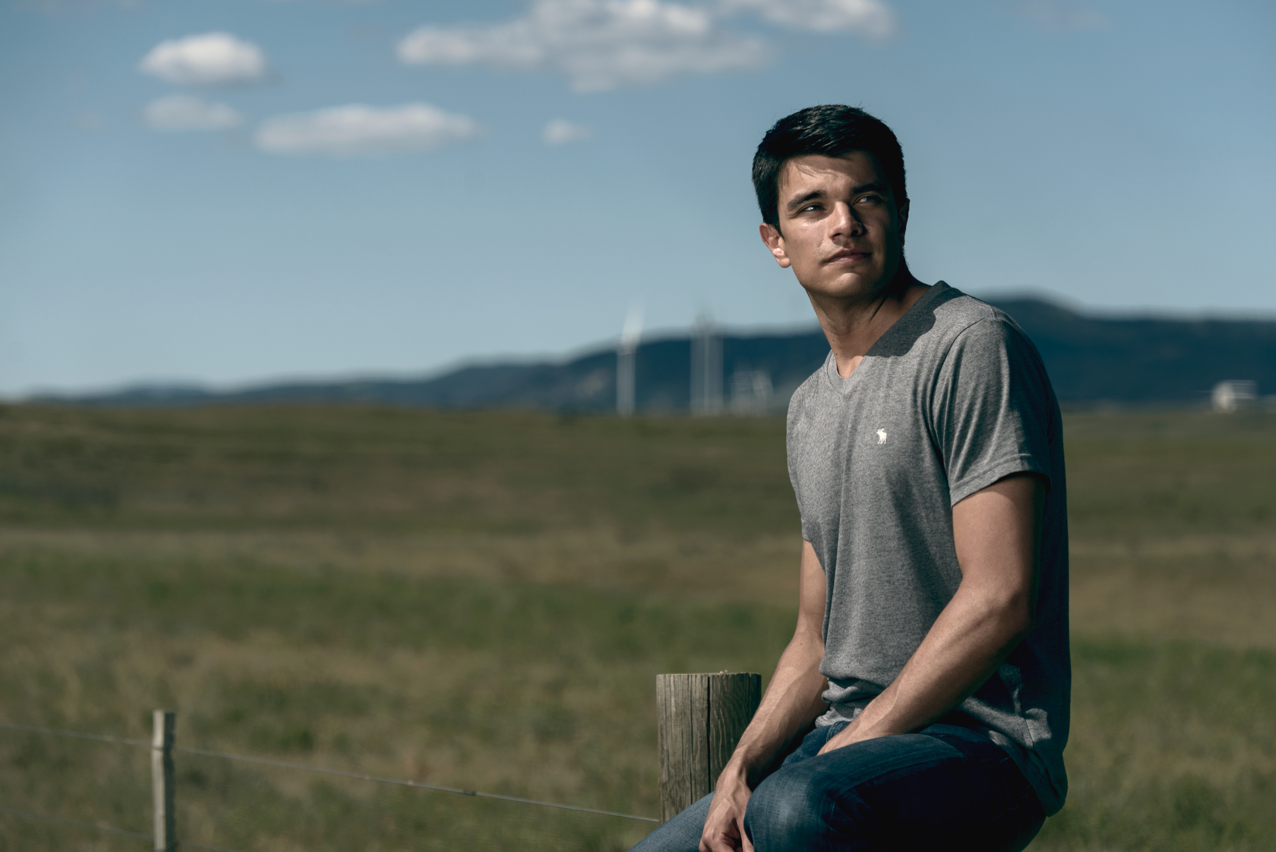 Mens' Fashion Lifestyle advertising image featuring Abercrombie & Fitch