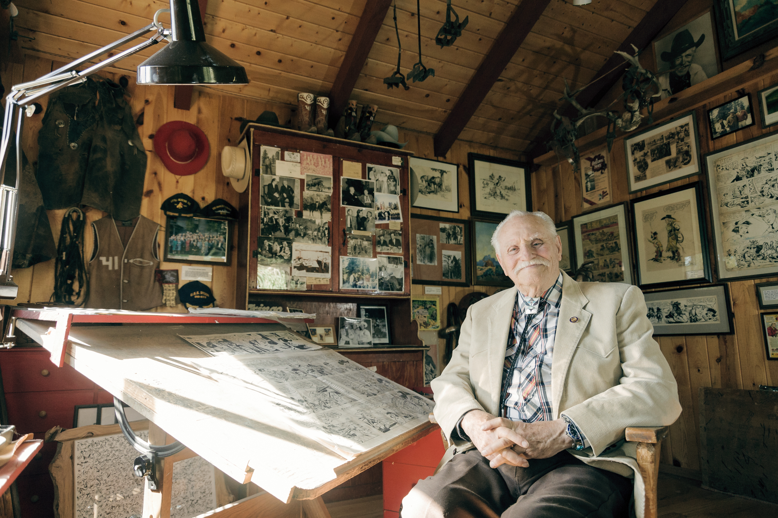 Editorial portrait of the late Fred Harman III — Pagosa Springs, CO