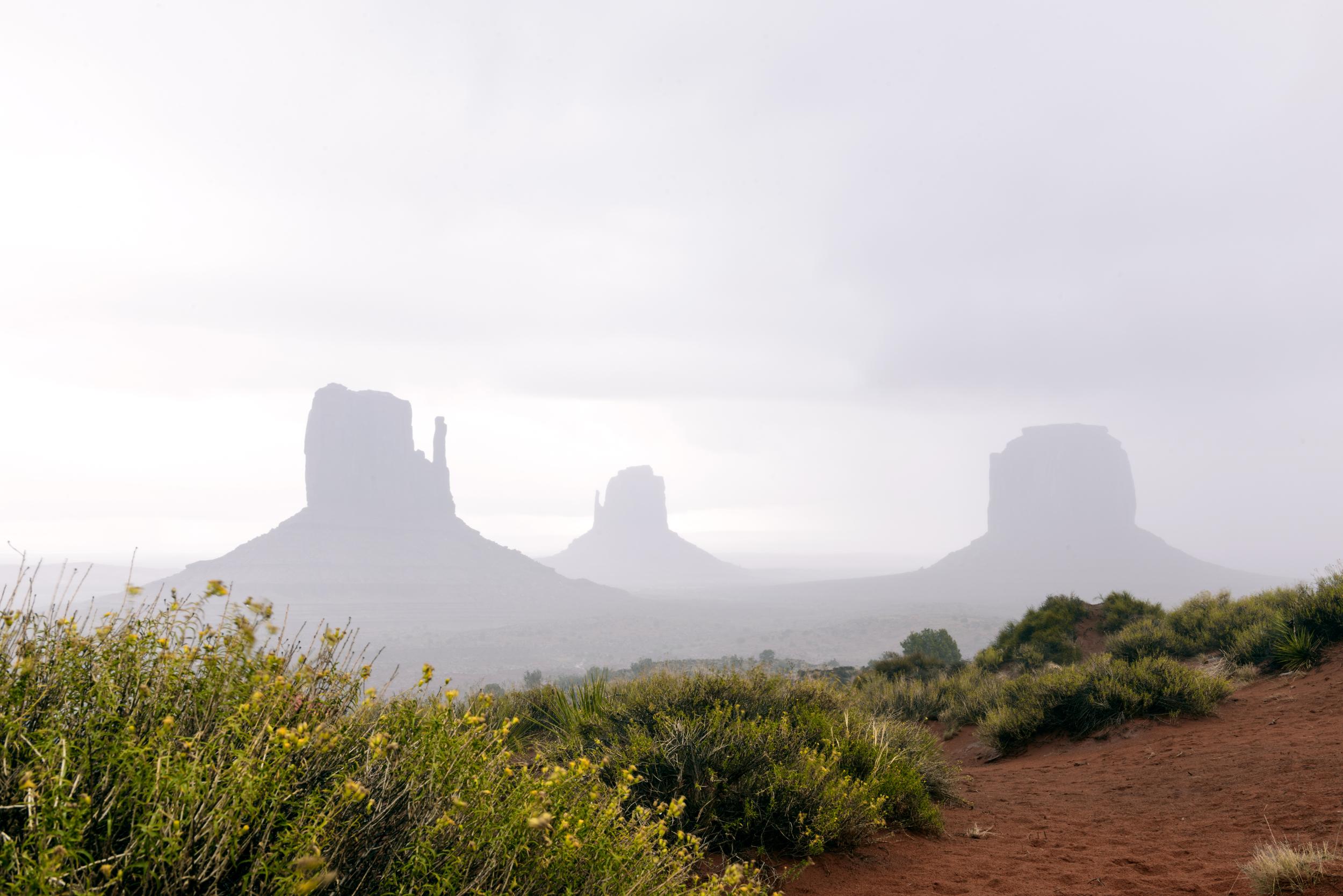 Monument Valley in a rain storm