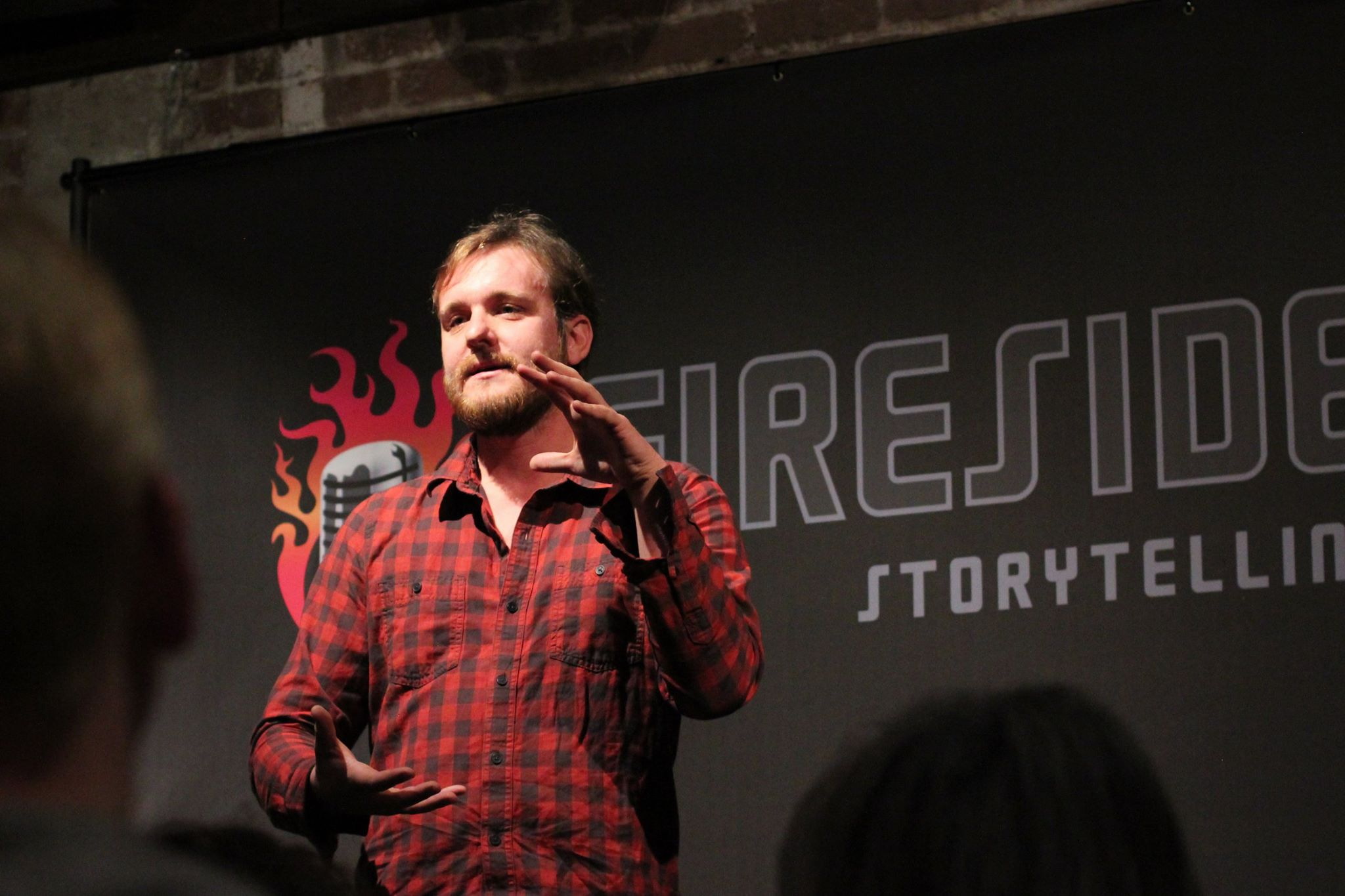 Performing at Fireside Storytelling in 2017