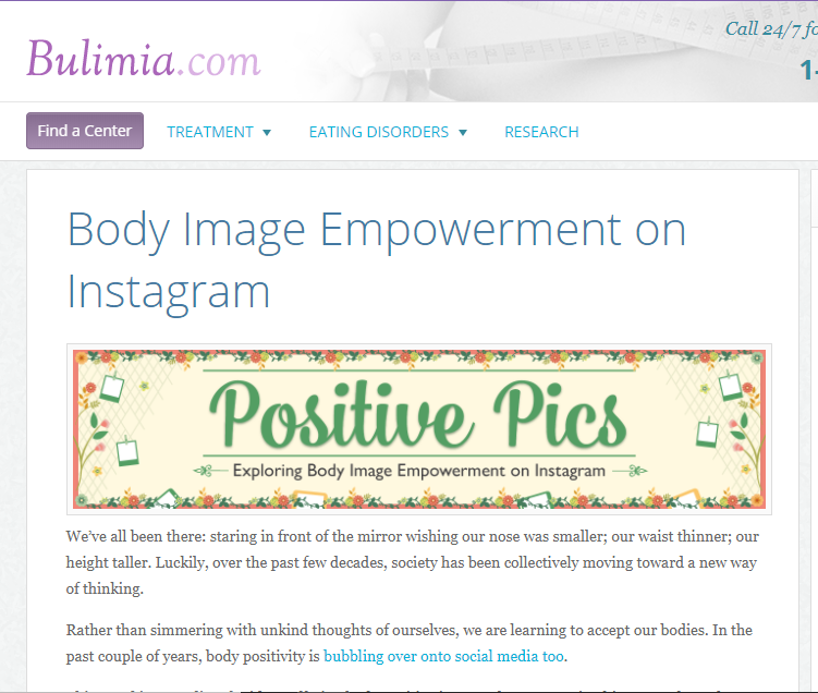 Positive Pics: Exploring Body Image Empowerment on Instagram    on Bulimia.com