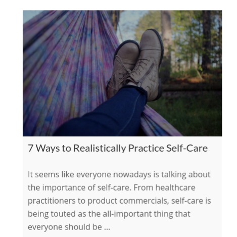 7 Ways to Realistically Practice Self-Care    on The International Association of Wellness Professionals
