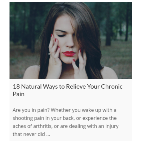 18 Natural Ways to Relieve Your Chronic Pain    on The International Association of Wellness Professionals