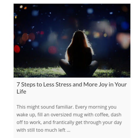 7 Steps to Less Stress and More Joy in Your Life    on The International Association of Wellness Professionals