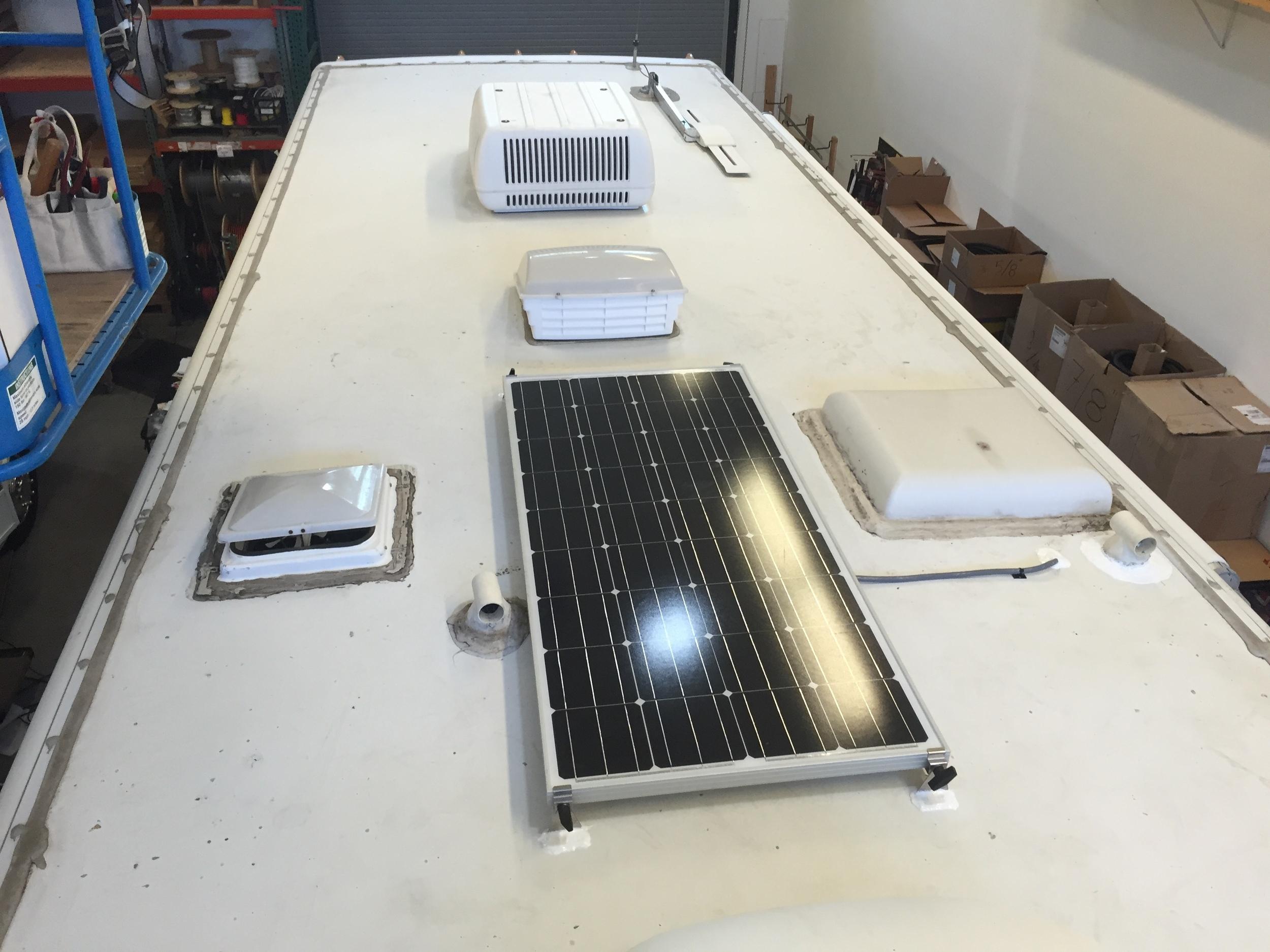 Single SF160 Solar Panel for battery maintenance