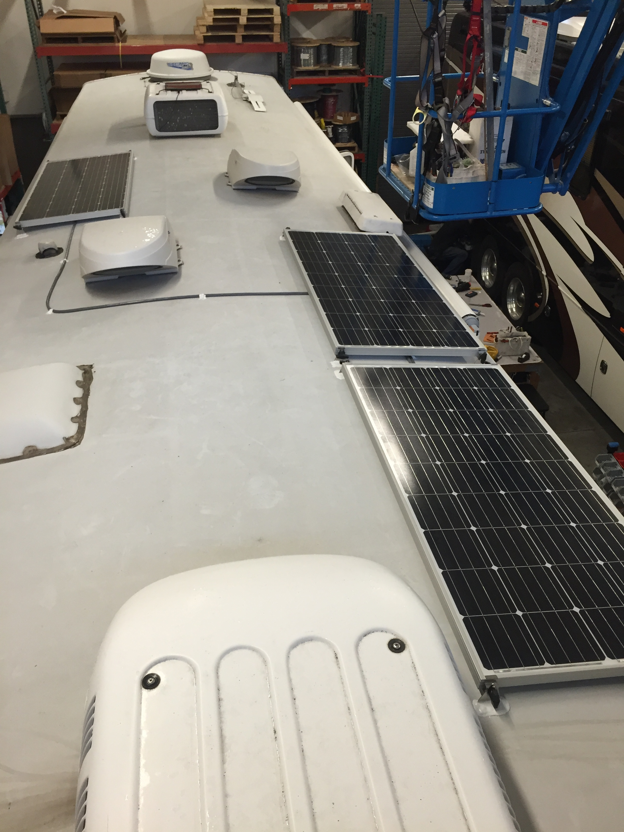Three 160W Solar Panels