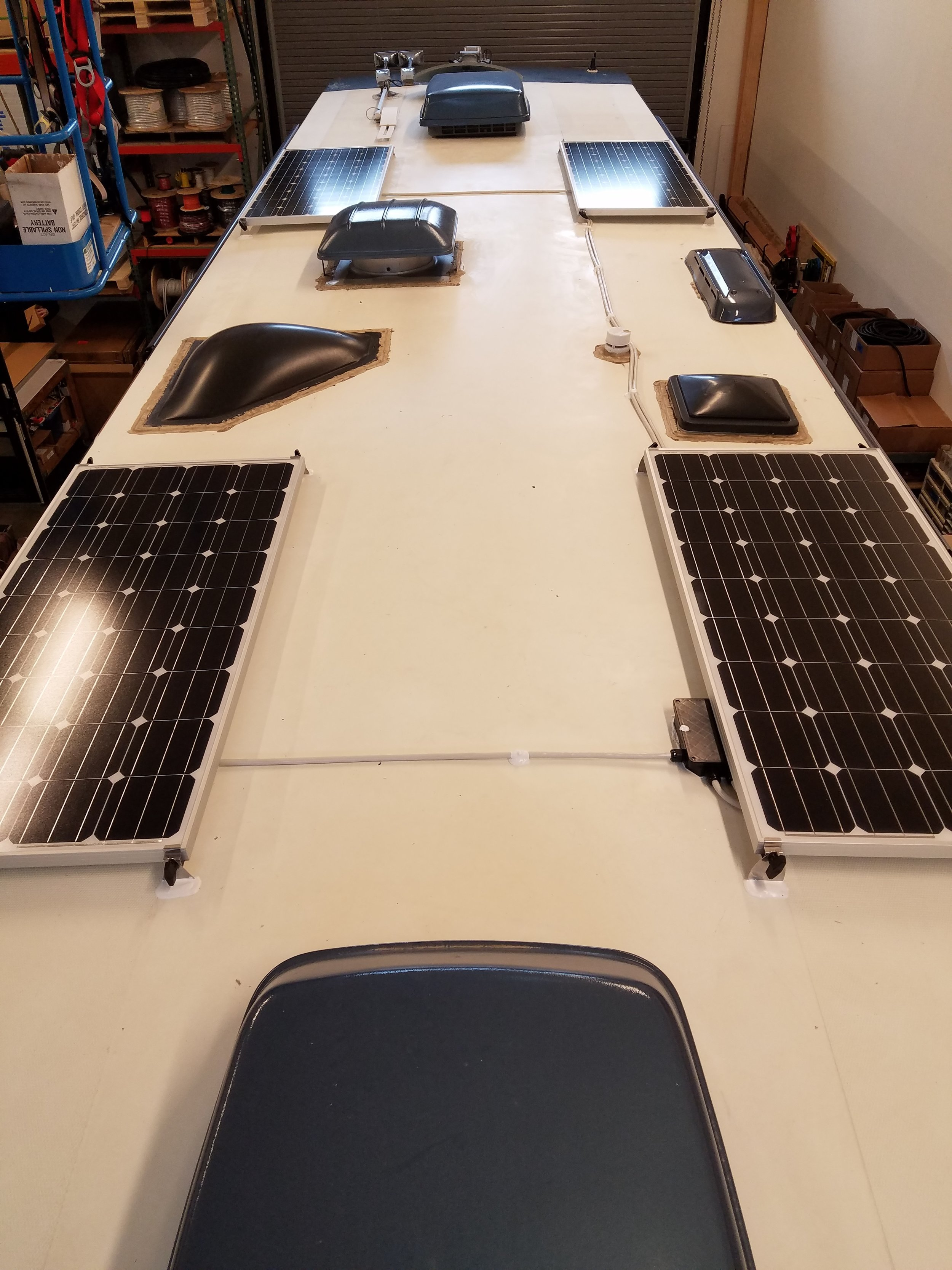 Equipment Added:   4x SF160 Solar Panels 1x SunRunner Signature MPPT 40A System Core