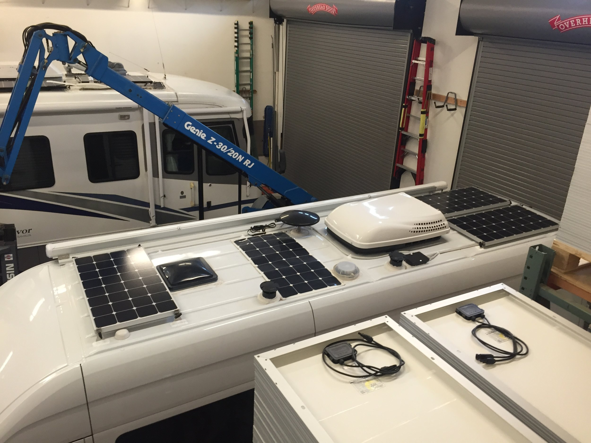 300W from AM Solar plus the original 100W flexible panel