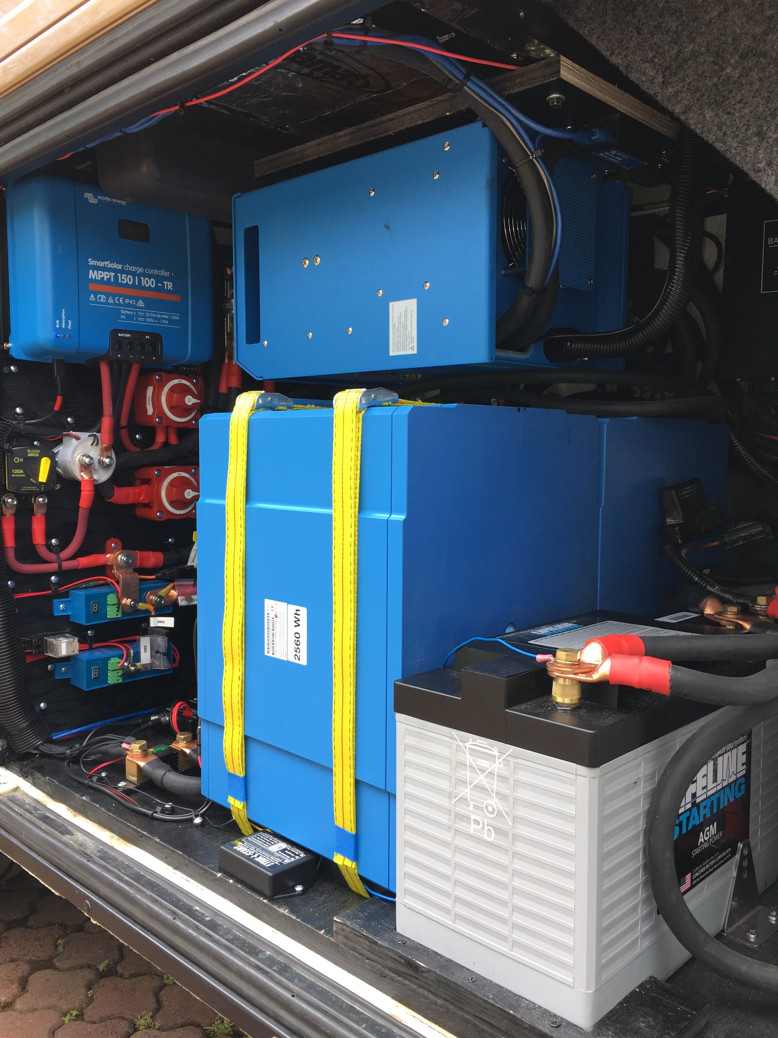 Inverter, Charge Controller, Lithium Battery System, starter batteries