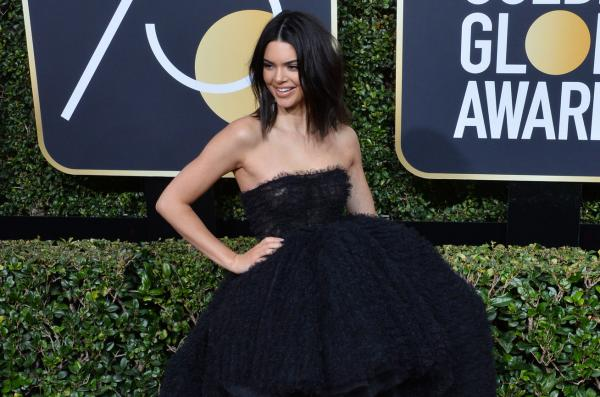 Kendall Jenner at the 2018 Golden Globes.  Photo by Jim Ruymen/UPI