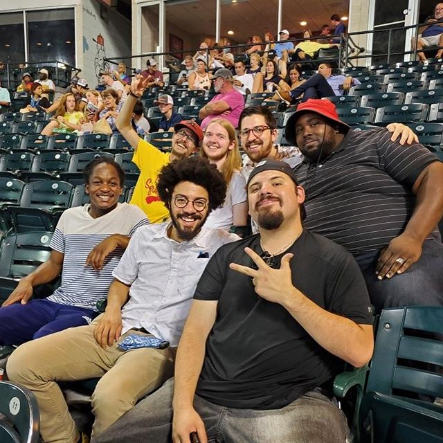 Happy Birthday to @bassinyou - Celebrated with the first (unofficial) Brunswick Baseball Night at the Flying Squirrels game tonight. Playing the HofGarden tomorrow night at 9!