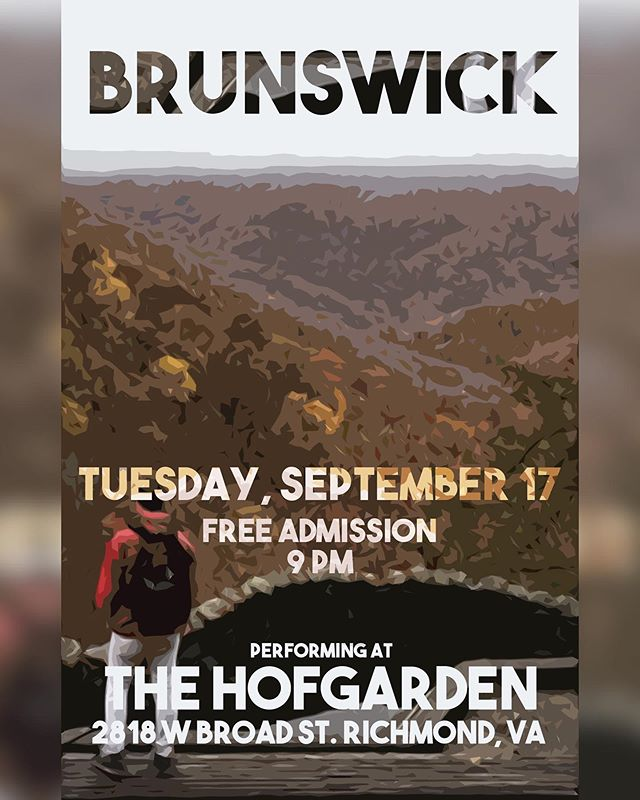 Tonight in RVA, two full sets of music from the Bruns-Champs at the HofGarden 🔊