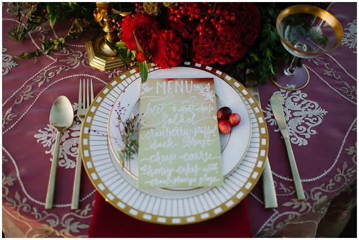 Fall Cranberry Wedding | Hooked Calligraphy