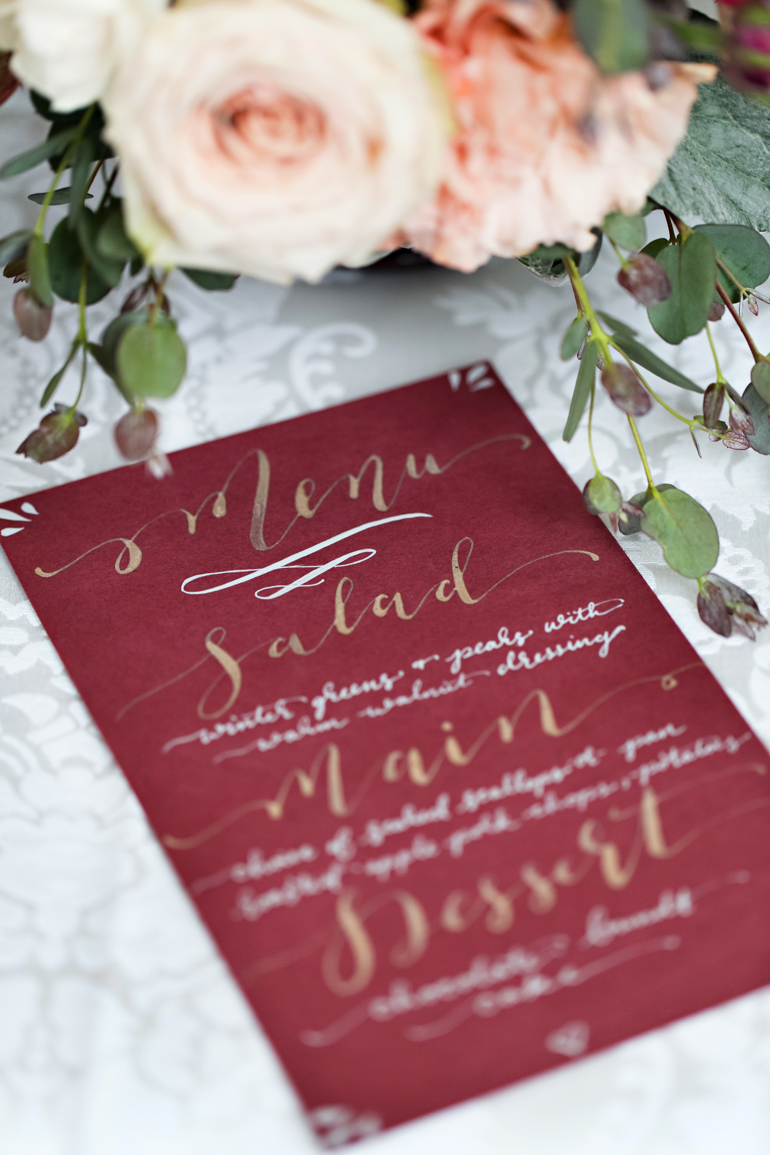 Winter's Kiss Wedding | Hooked Calligraphy