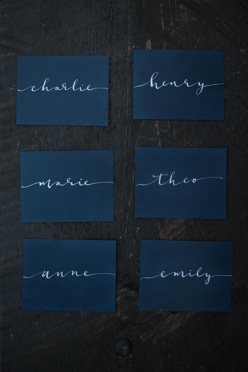 Van Gogh Wedding Style   Hooked Calligraphy