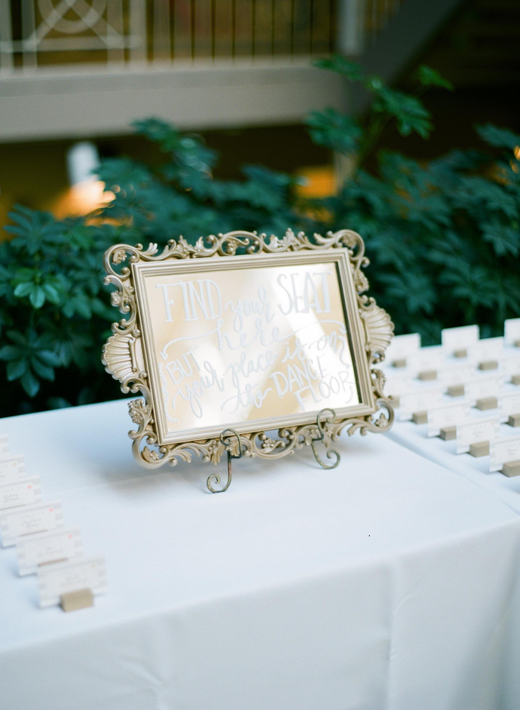 Lakeside Wedding Calligraphy   by Hooked Calligraphy -