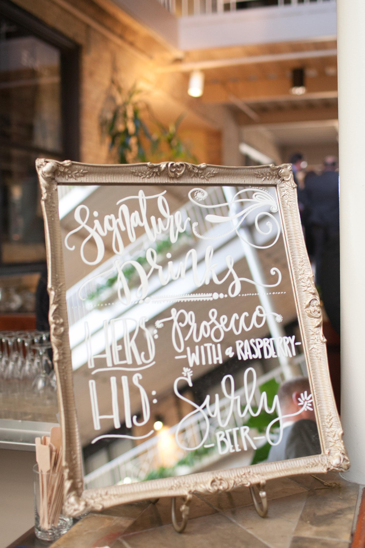 Lakeside Wedding Calligraphy   by Hooked Calligraphy