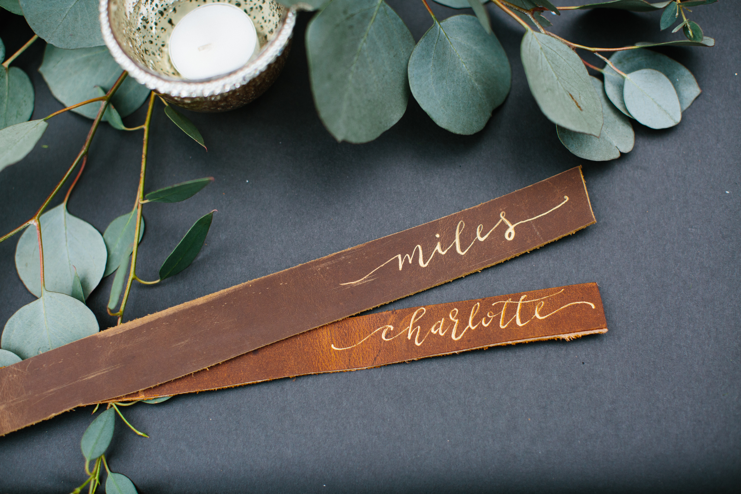 Fall Ranch Wedding | Hooked Calligraphy