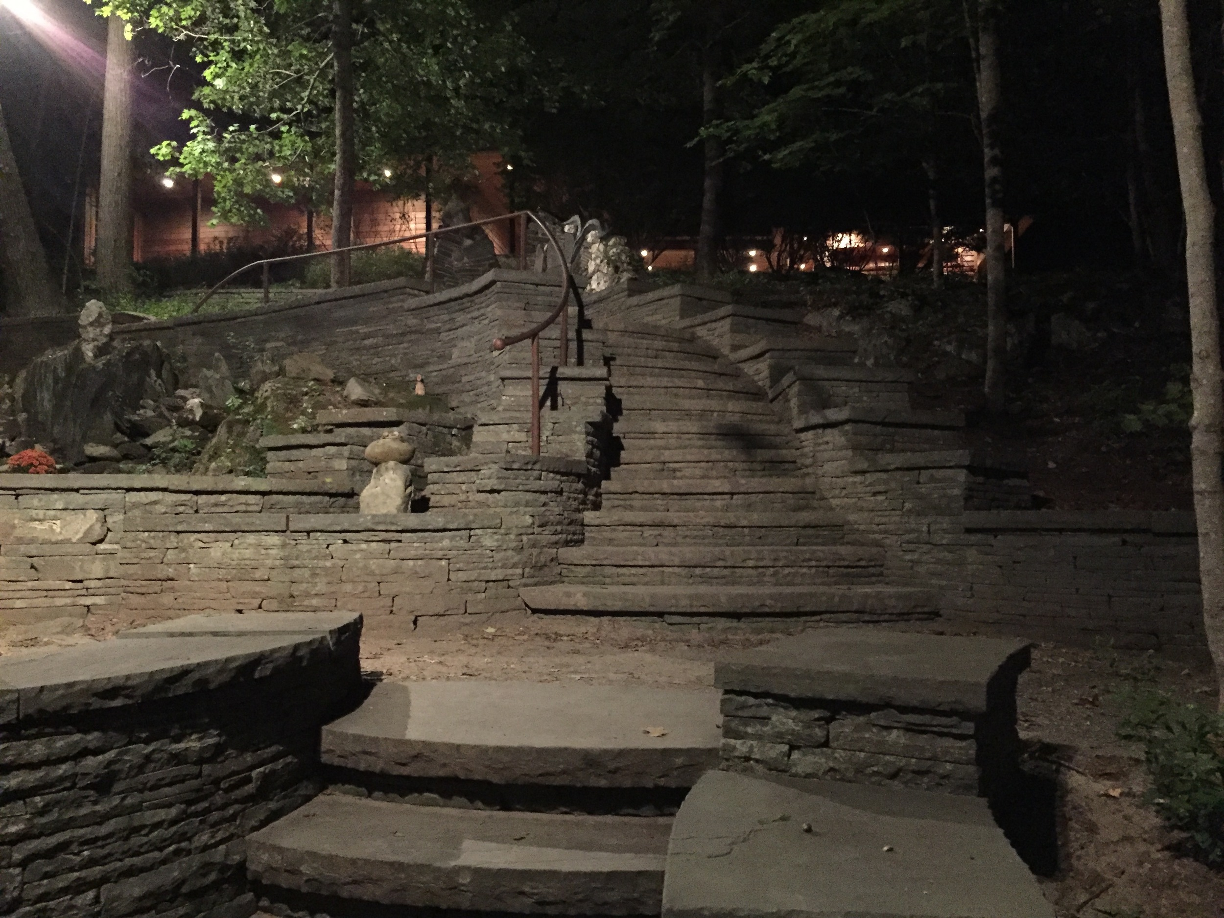 Omega Institute of Holistic Studies,Rhinebeck, NY, September 27, 2015   Steps climbing to the Sanctuary