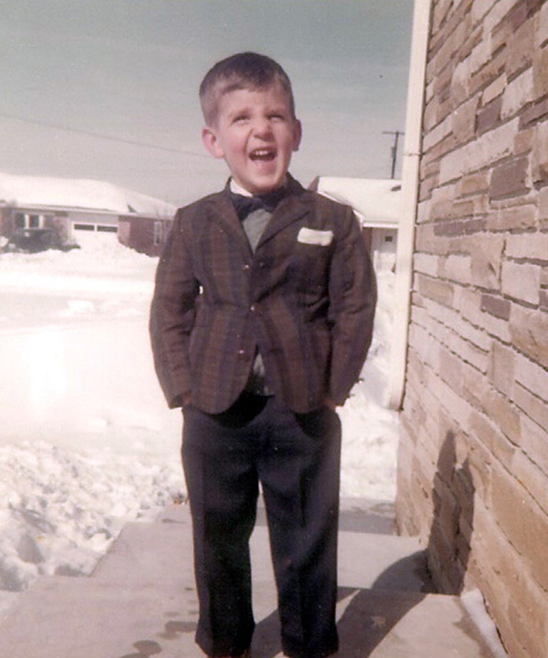 On the steps of my childhood home, circa 1960