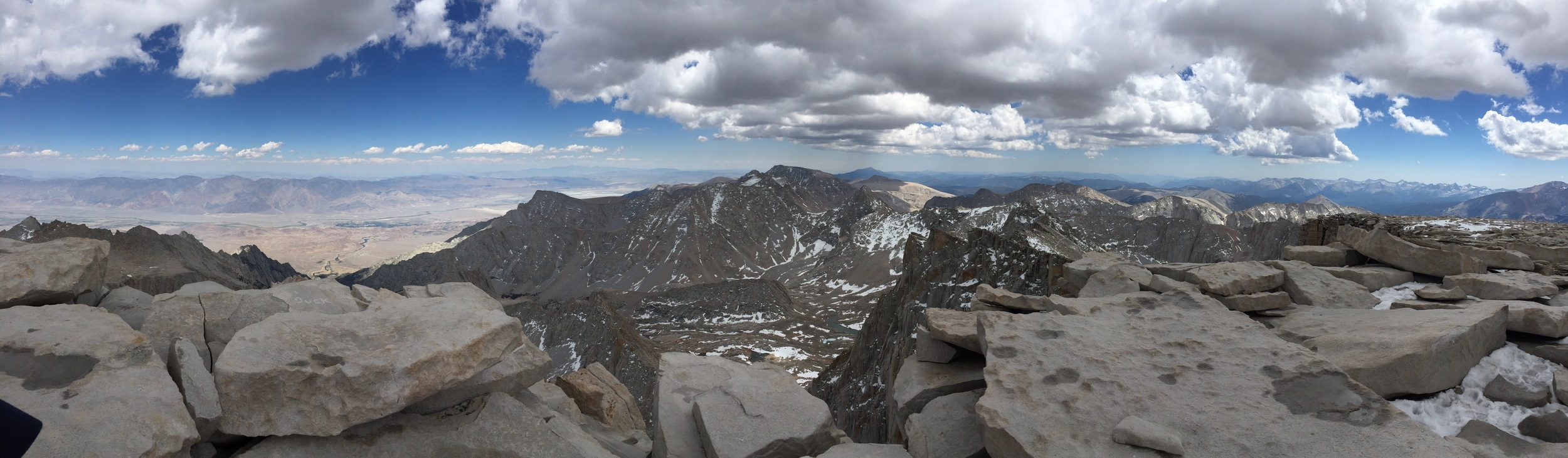 My son, JC, conquers Mt Whitney one step at a time,June 2015