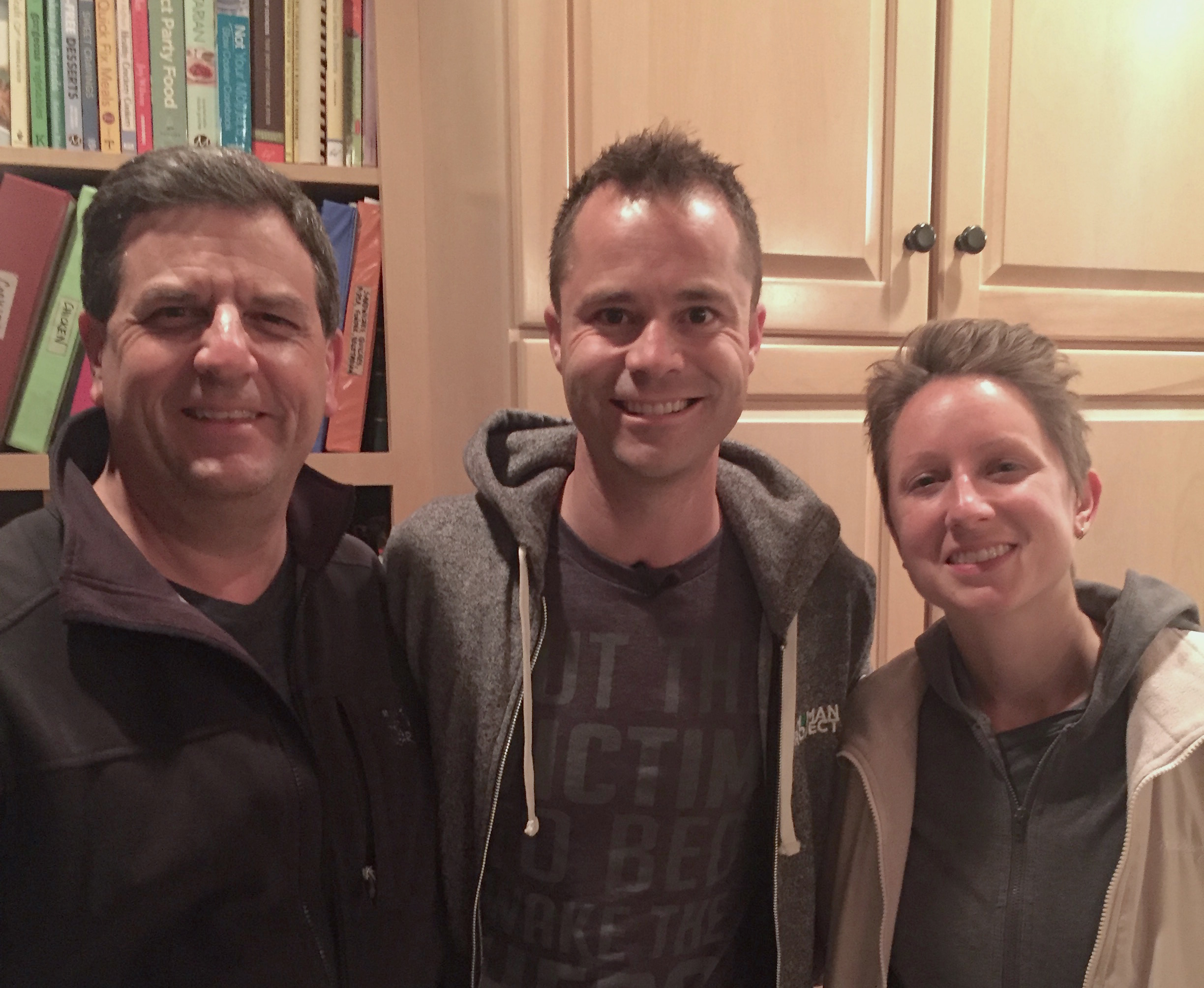 Carl, Wes and Lauren in our kitchen at 3AM. Time to head to the airport on Thursday, 5/12. (Taken by  Ed Surtees , Wes's amazing videographer! Thanks so much, mate!)