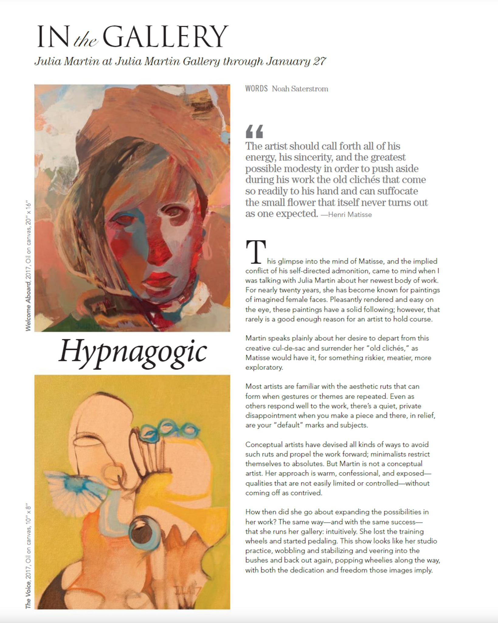 IN THE GALLERY: HYPNAGOGIC