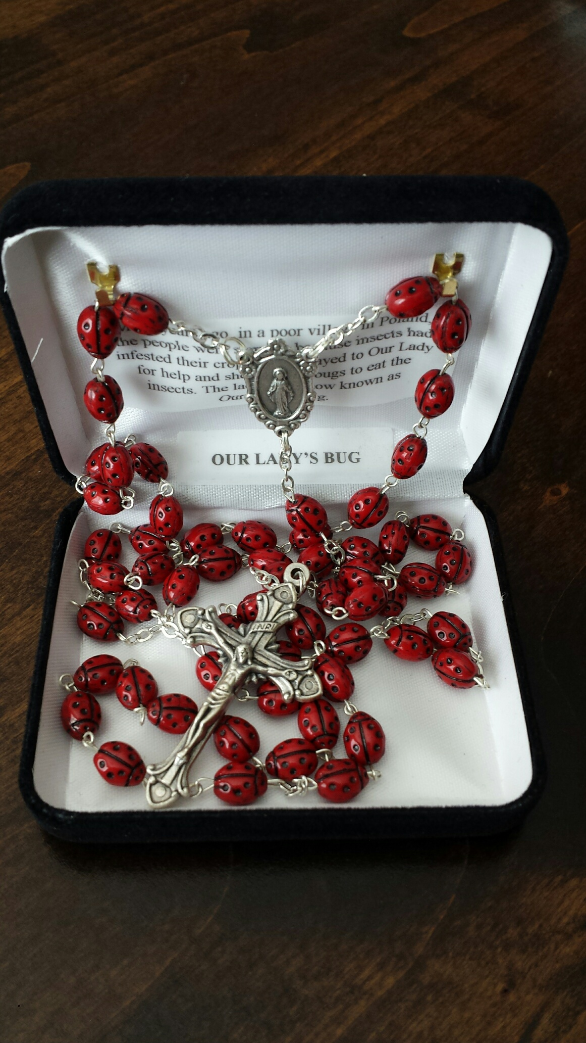 Our Lady's Bug Rosary $29.99