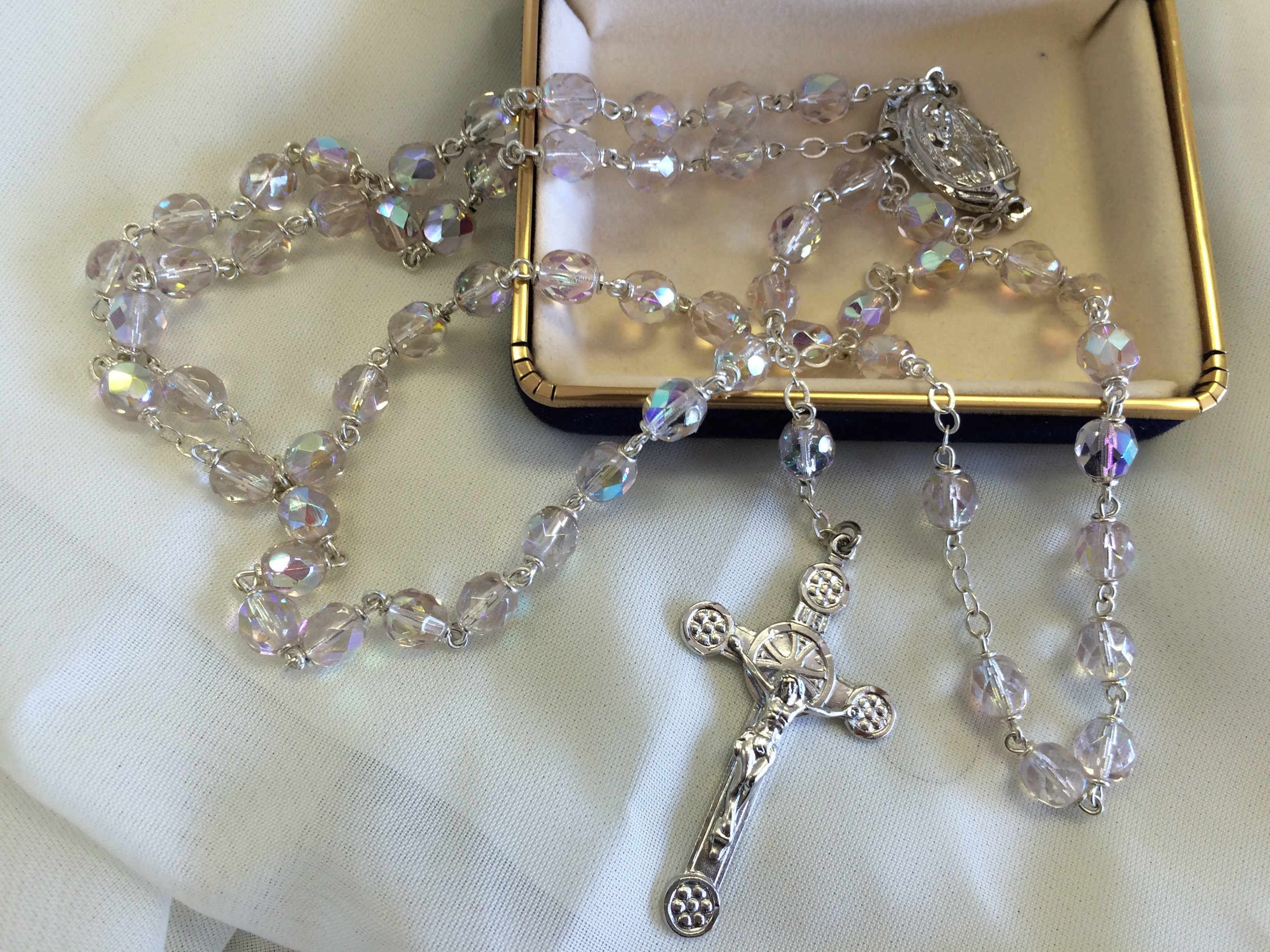 Rhodium Rosary $29.99