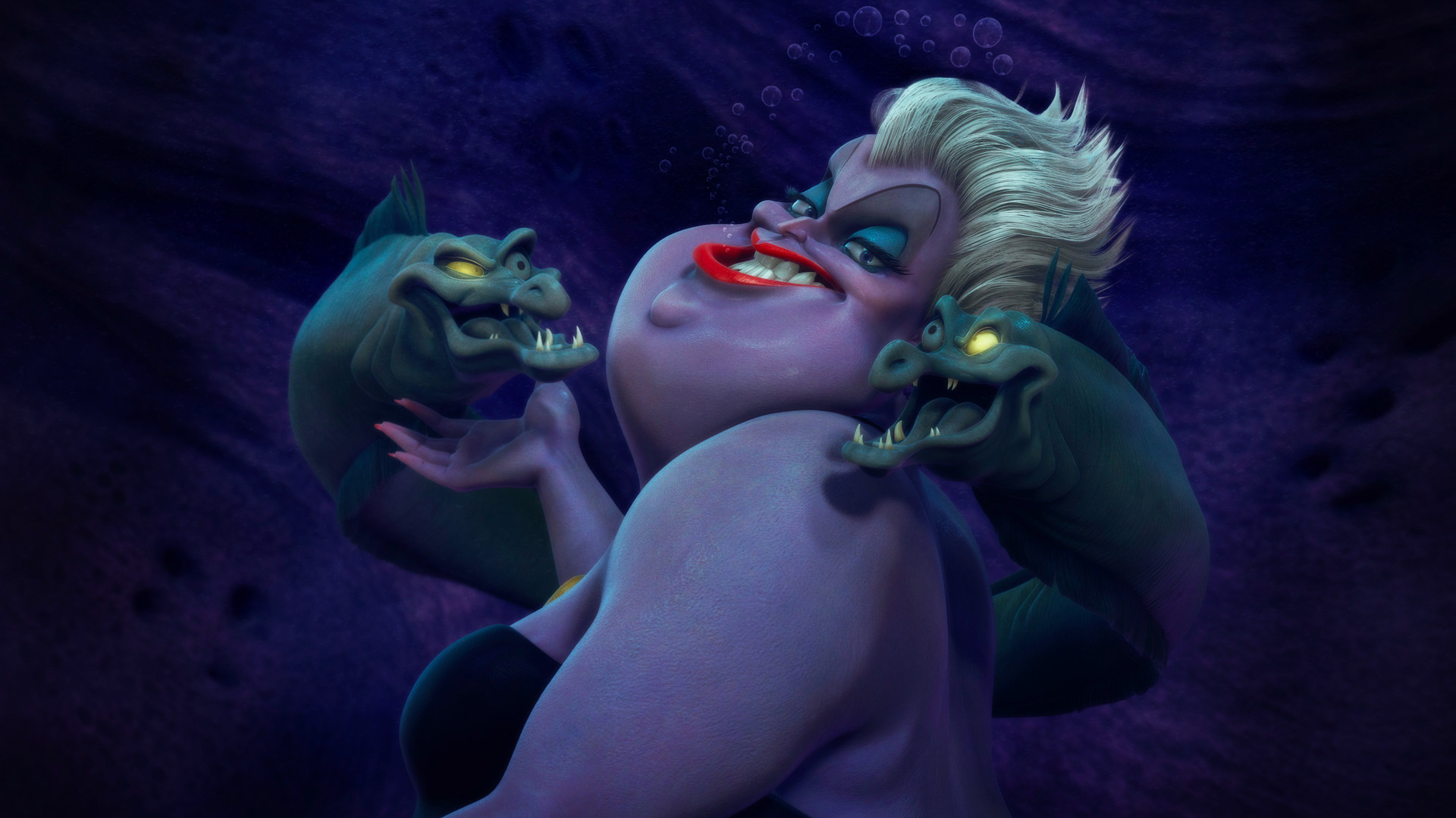 Ursula, Flotsam, and Jetsam