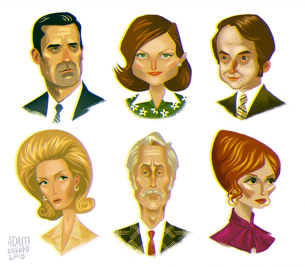 Mad Men Series Finale Portraits