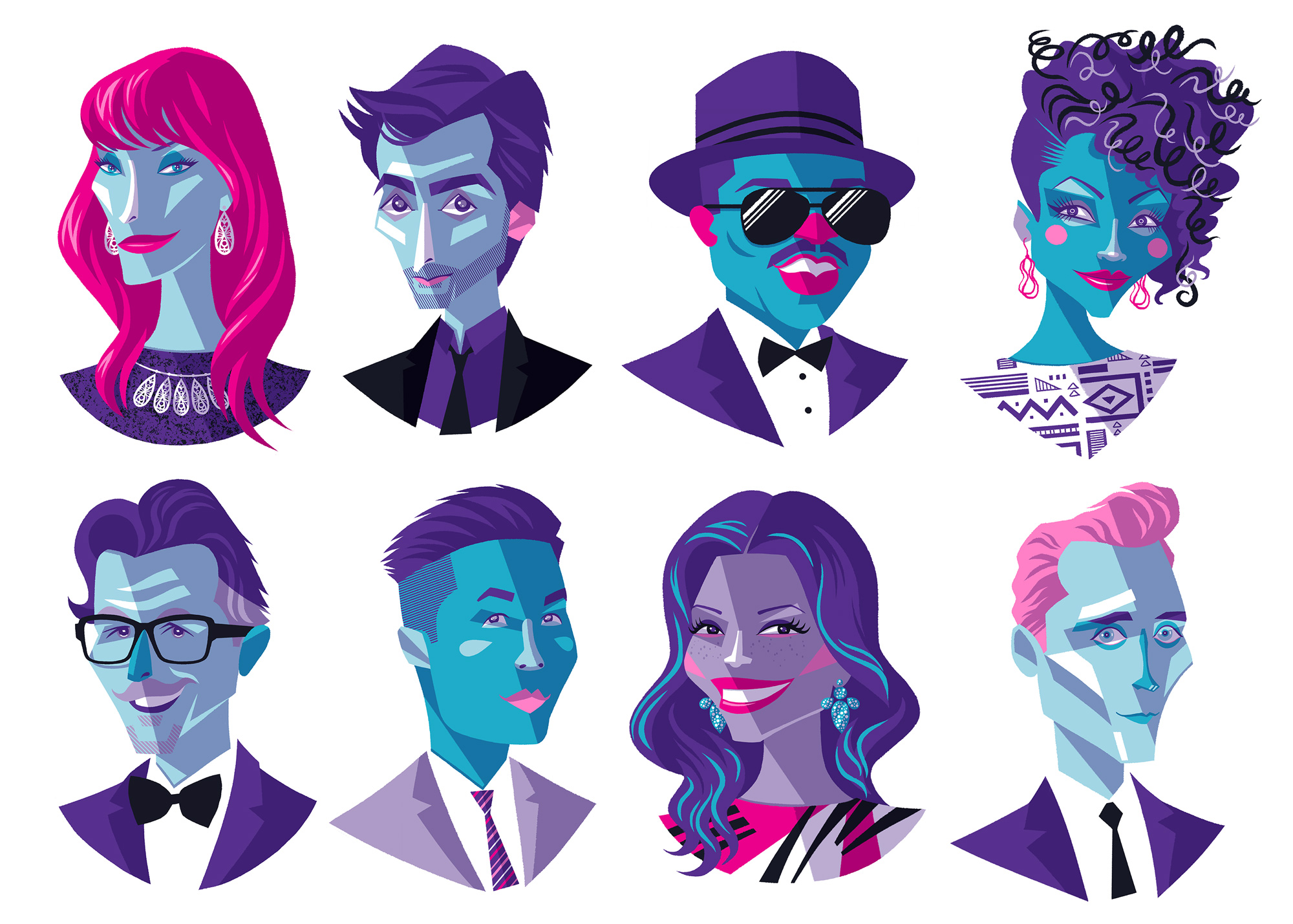 Tribeca Shortlist Portraits (Jane Seymour, David Tennant, Fab 5 Freddy, Yaya Dacosta, Gary Oldman, BD Wong, Andrea Navedo, and Tom Hiddleston)