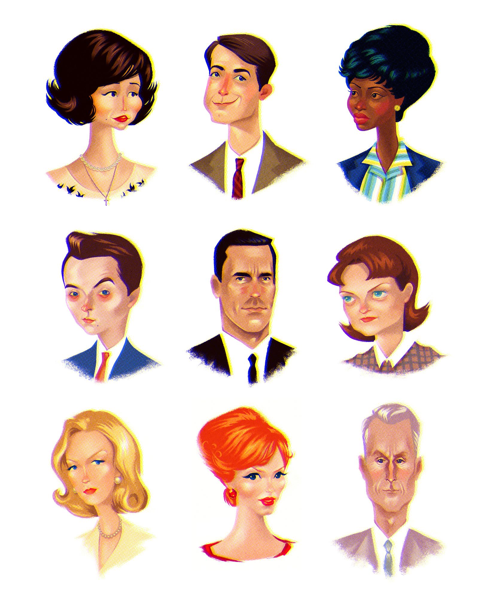 Mad Men Portraits