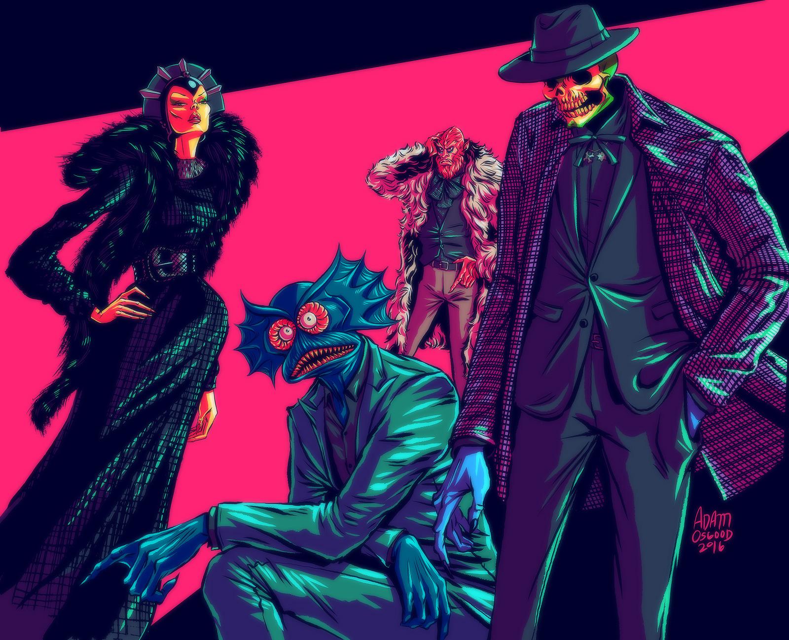 Vanity Fair I (Evil-Lyn, Merman, Beastman, and Skeletor)