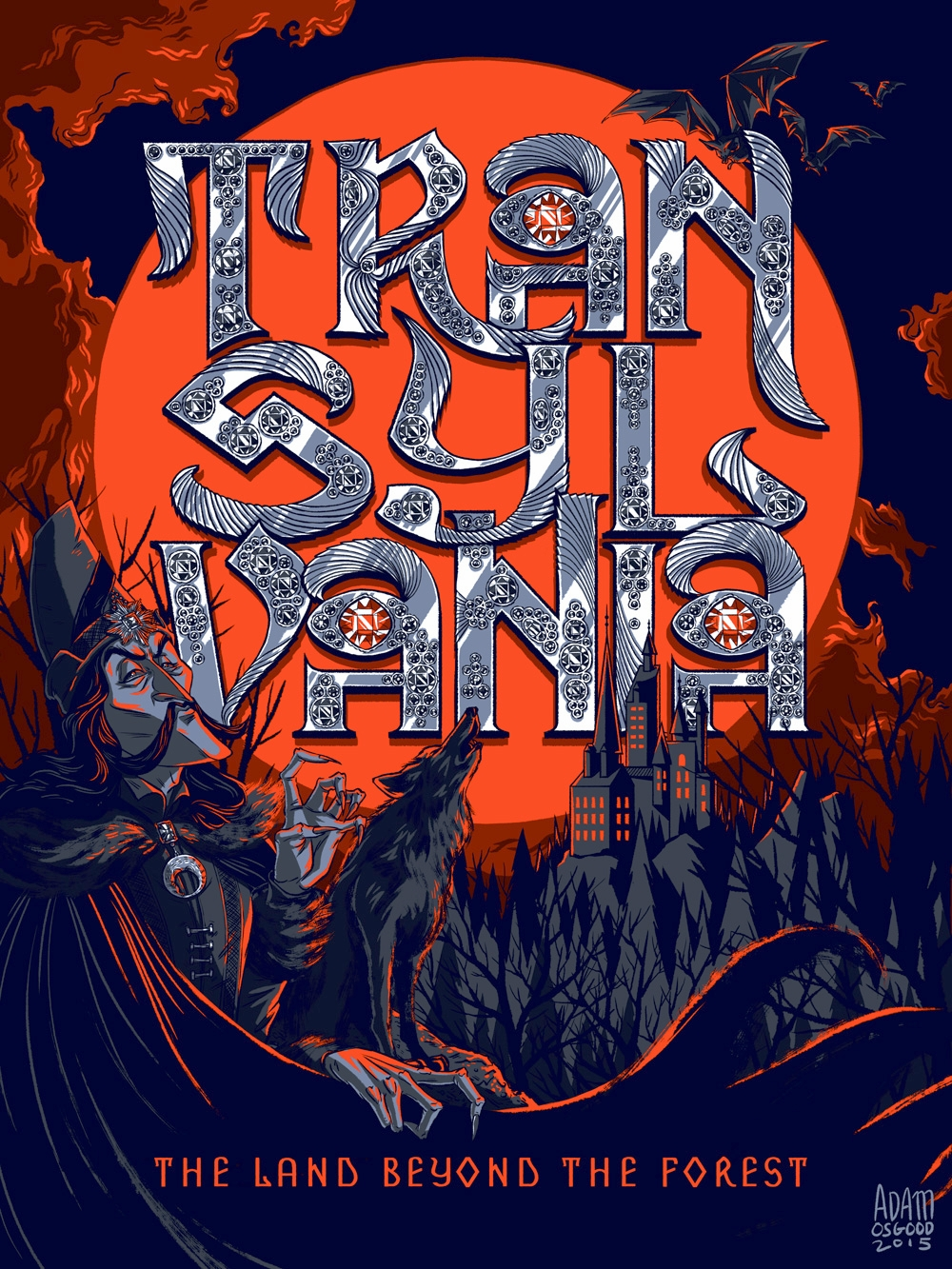 Transylvania Typographic Poster