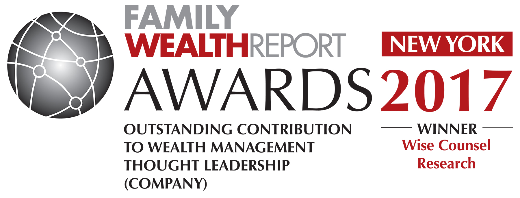 Family Wealth Report AWard Thought Leadership Wise Counsel Research