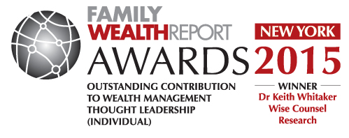 Family Wealth Report Award Thought Leadership Keith Whitaker Wise Counsel Research