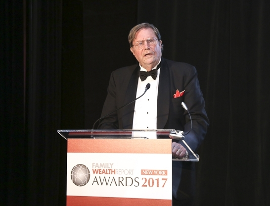 Jay Hughes Family Wealth Report Lifetime Achievement Award Wise Counsel Research
