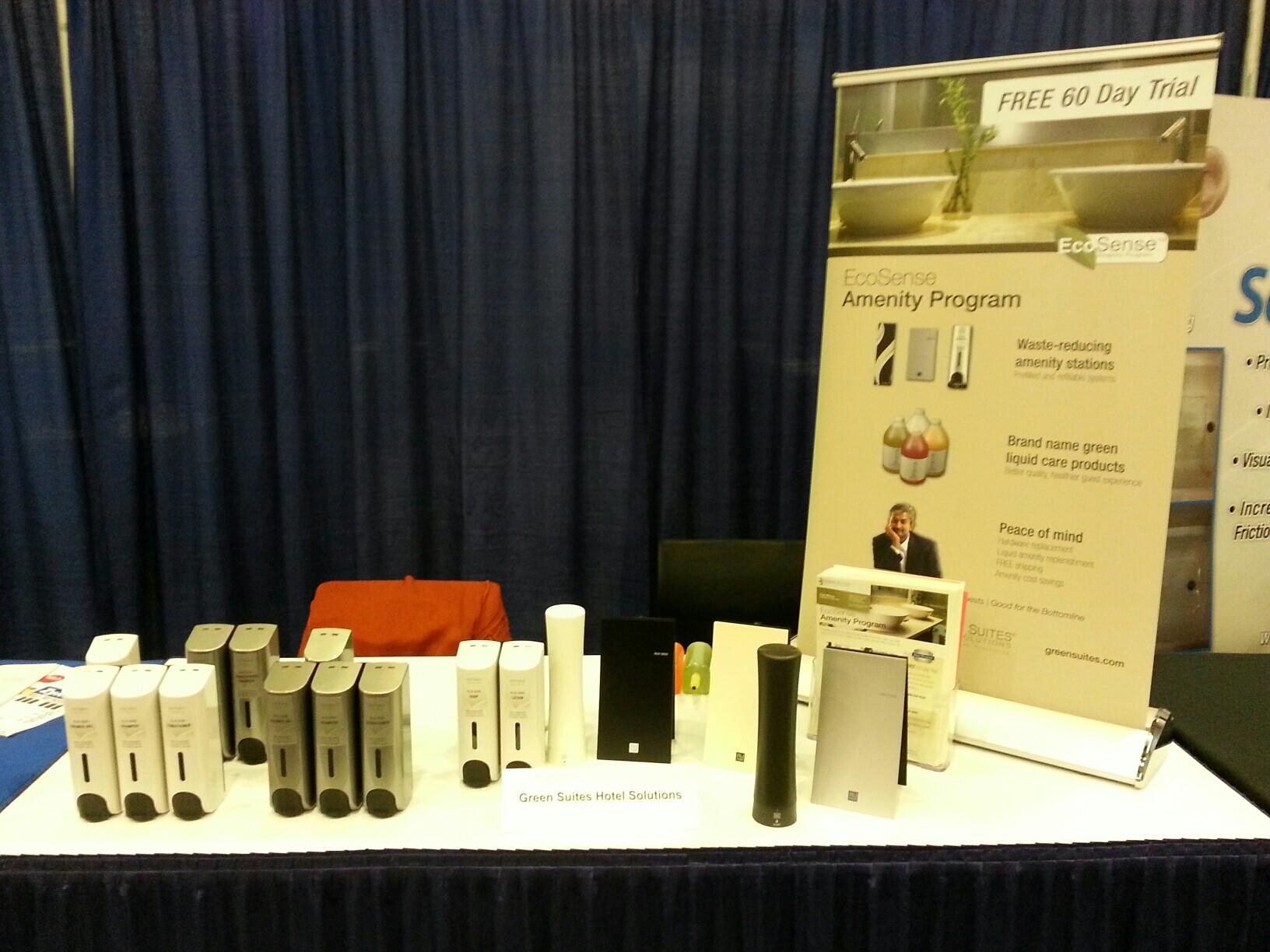 Banner and flyers at the tradeshow