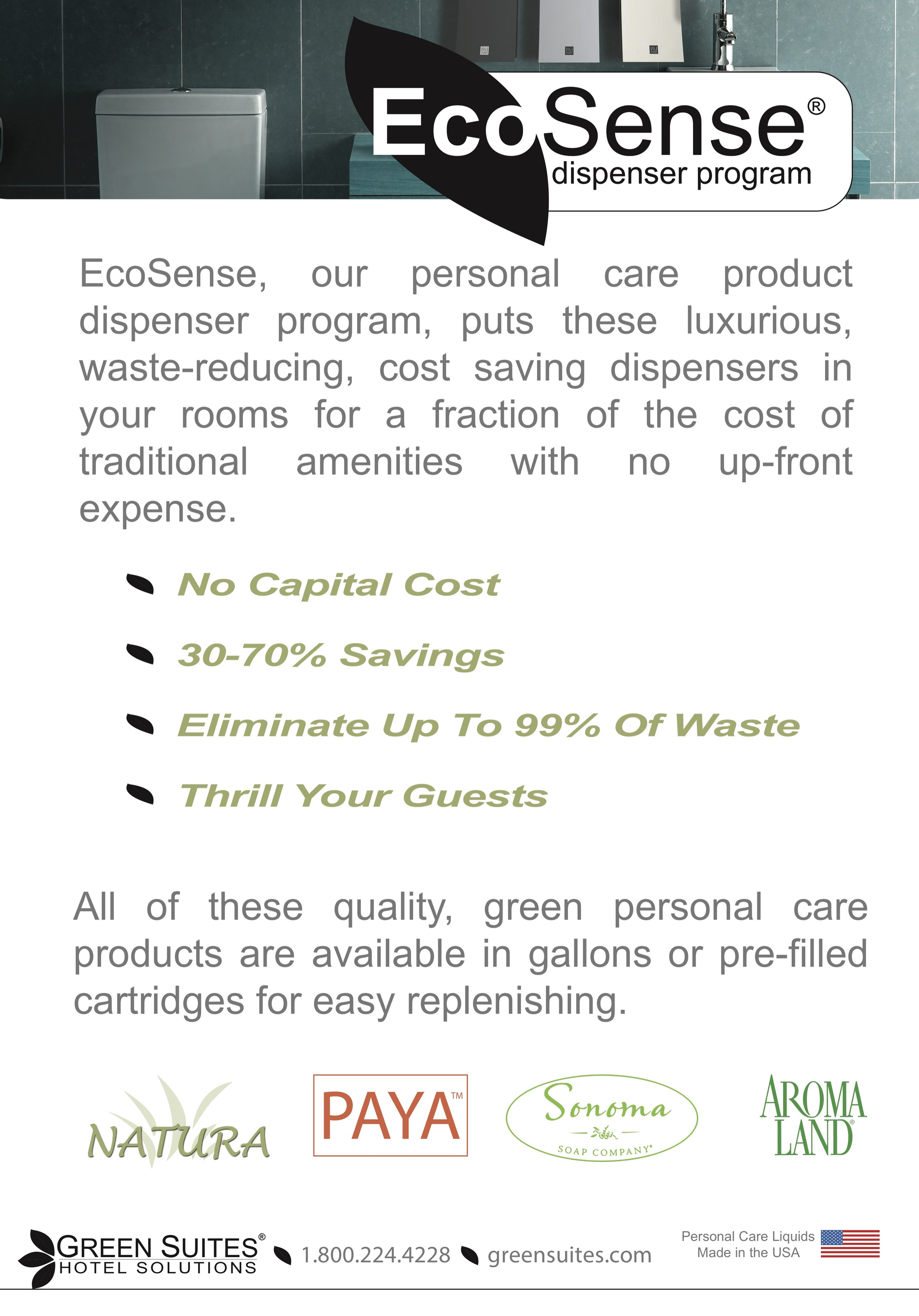 BEFORE: EcoSense Banner  Lacked hierarchy and first impression could be improved