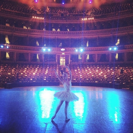 Performing Swan Lake with English National Ballet at Royal Albert Hall in London