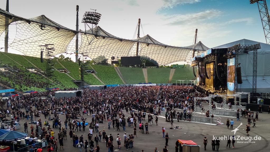 Das Olympiastadion in München - ein imposanter Anblick