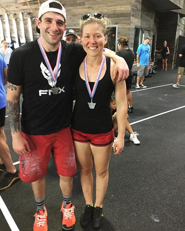 Lots of fun competing with @shabertooth today at @theguardiangames at @crossfitpushinweight!! We came out of retirement to gun for the win and ended up in 2nd. 😬 All in all a great day giving our best effort! I LOVEEE competing, whether it's kayaking, skiing, CrossFit, or weightlifting. Soooo the question is..... what's next??! #theguardiangames #crossfitpushinw8 #competitiveexercise